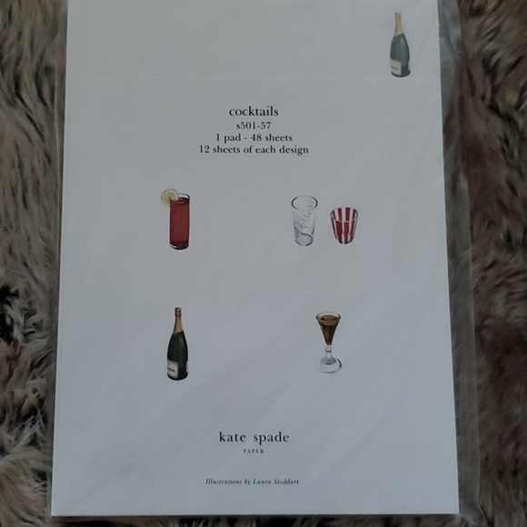 Kate Spade Cocktails Notepad NWT!